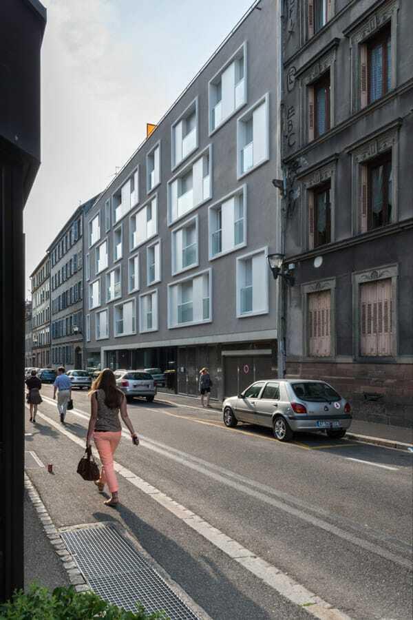 55 logements bureaux rue de la course et rue d serte strasbourg un projet weber et keiling. Black Bedroom Furniture Sets. Home Design Ideas